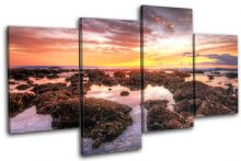 beautiful Shore Sunset Seascape - 13-0576(00B)-MP04-LO